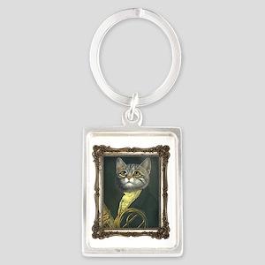 Classical Cat Portrait Keychain