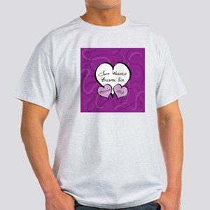 Purple Two Hearts Married 2012 Light T-Shirt