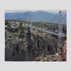 Royal Gorge Bridge Jan Throw Blanket