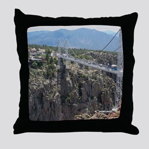 Royal Gorge Bridge Jan Throw Pillow