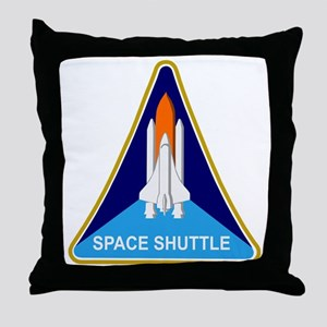 Space Shuttle Shield Throw Pillow