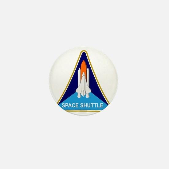 Space Shuttle Shield Mini Button