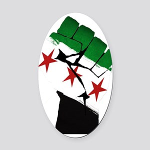 Syrian Strength Oval Car Magnet