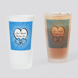 Blue Two Hearts Married 2012 Drinking Glass