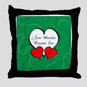 Red Green Two Hearts Married 2012 Throw Pillow