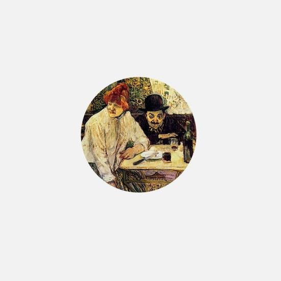 Toulouse-Lautrec A la Mie in the Resta Mini Button