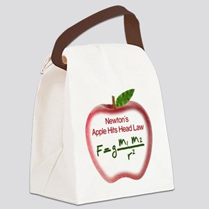 Newton's Apple Law - Universal At Canvas Lunch Bag