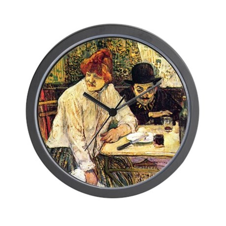 Toulouse-Lautrec A la Mie in the Restau Wall Clock