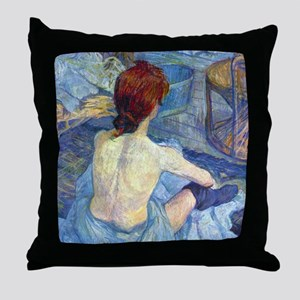 Toulouse-Lautrec Rousse (Toilet) Throw Pillow