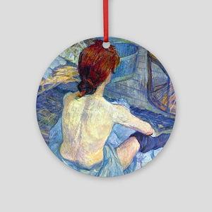 Toulouse-Lautrec Rousse (Toilet) Round Ornament