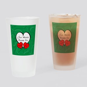 Red Green Two Hearts Engaged 2012 Drinking Glass