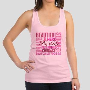 - Tribute Square Breast Cancer Racerback Tank Top