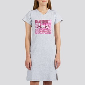 - Tribute Square Breast Cancer Women's Nightshirt