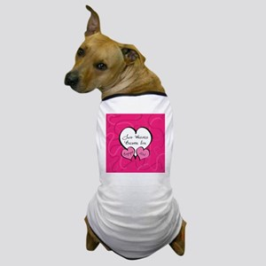 Pink Two Hearts Become One Engaged 201 Dog T-Shirt