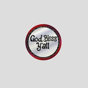GodBlessYall Mini Button