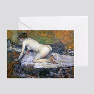 Victorian erotic greeting cards cafepress toulouse lautrec woman naked greeting card m4hsunfo