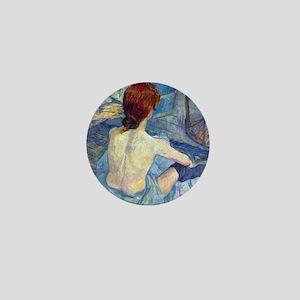 Toulouse-Lautrec Rousse (Toilet) Mini Button