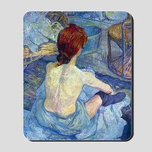 Toulouse-Lautrec Rousse (Toilet) Mousepad