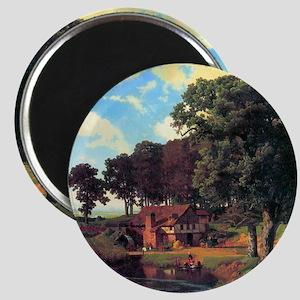 Albert Bierstadt A Rustic Mill Magnet