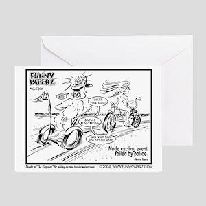 NUDE BICYCLIST Greeting Card