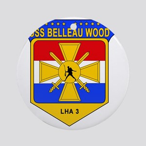 US Navy USS Belleau Wood LHA 3 Round Ornament