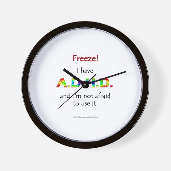 """Freeze!"" ADHD Wall Clock"