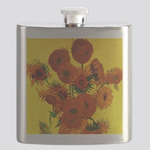 Van Gogh Fifteen Sunflowers Flask