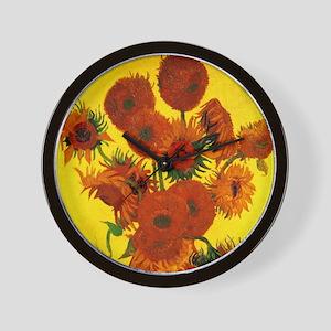 Van Gogh Fifteen Sunflowers Wall Clock