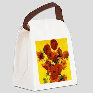 Van Gogh Fifteen Sunflowers Canvas Lunch Bag