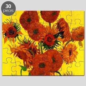 Van Gogh Fifteen Sunflowers Puzzle