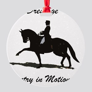 Dressage Poetry in Motion Horse Round Ornament
