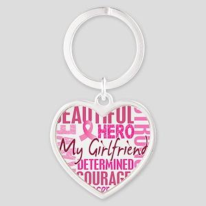 - Tribute Square Girlfriend Heart Keychain