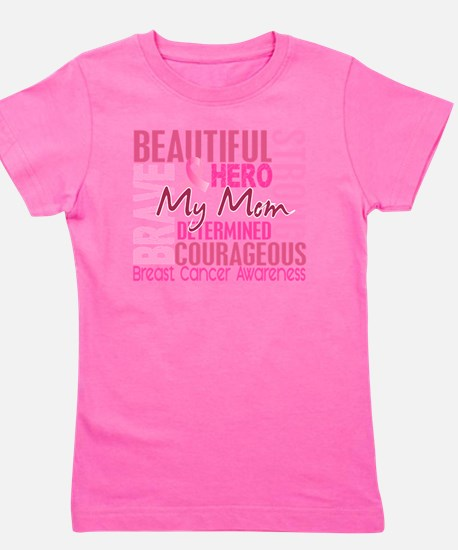 - Tribute Square Breast Cancer Girl's Tee