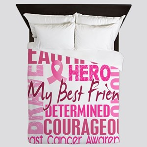 - Tribute Square Breast Cancer Queen Duvet