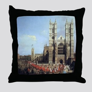 Canaletto Westminster Abbey Throw Pillow