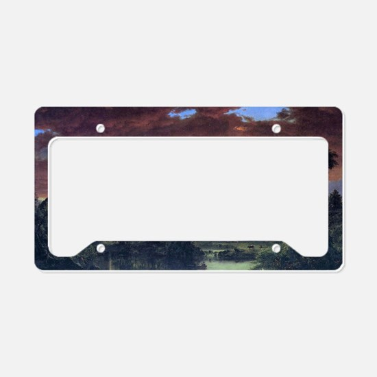 A rural home by Frederick Edw License Plate Holder
