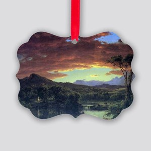 A rural home by Frederick Edwin C Picture Ornament