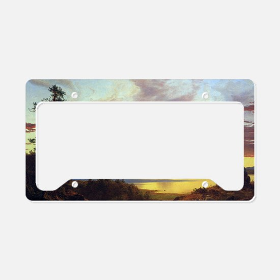 Frederick Edwin Church Sunset License Plate Holder