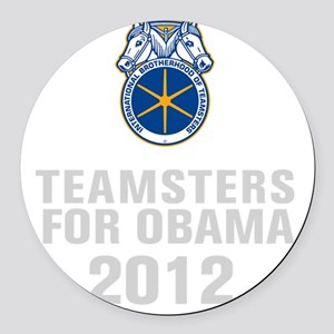 Teamsters For Obama Round Car Magnet