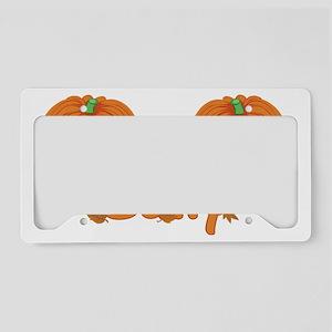 Halloween Pumpkin Sally License Plate Holder