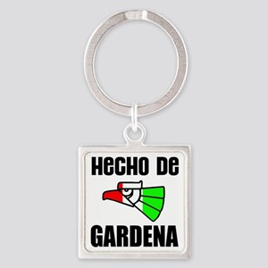Hecho De Gardena,Ca -- T-Shirt Square Keychain