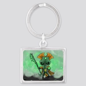 Robot Overlord Landscape Keychain