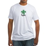 LUCKY 4 LEAF CLOVER Fitted T-Shirt