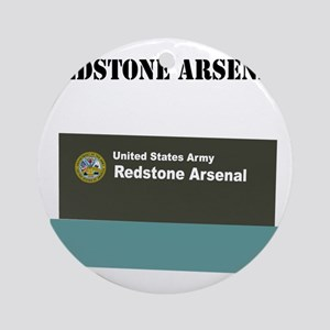 Redstone Arsenal with Text Round Ornament