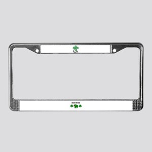 LUCKY 4 LEAF CLOVER License Plate Frame