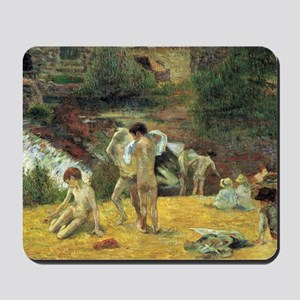 Paul Gauguin Bathing In The Mill Mousepad