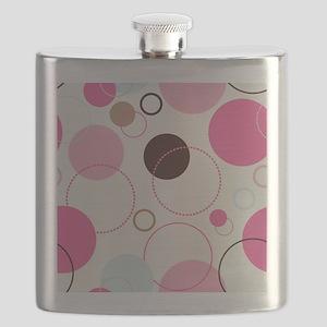 Retro Circles Flask