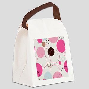 Retro Circles Canvas Lunch Bag