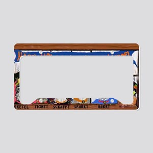 Happy Howl-O-Ween License Plate Holder