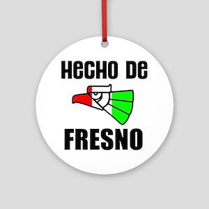 Hecho De Fresno -- T-Shirt Round Ornament